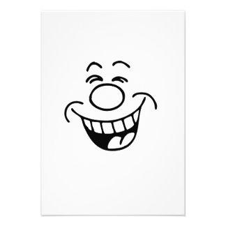 Lustiges Gesicht Personalisierte Einladungskarte