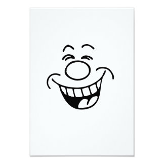Lustiges Gesicht 8,9 X 12,7 Cm Einladungskarte