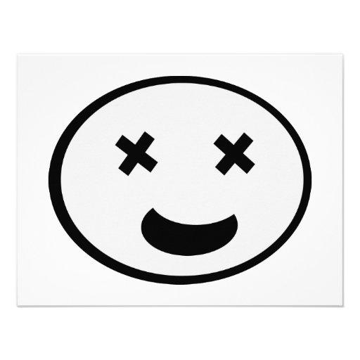 Lustiges Gesicht! Personalisierte Einladungskarte