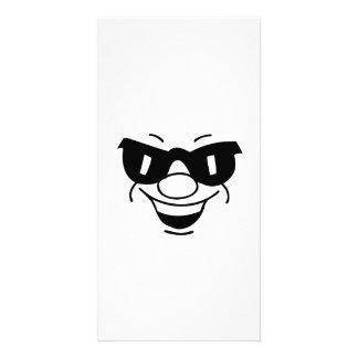 Lustiges Gesicht Foto Grußkarte