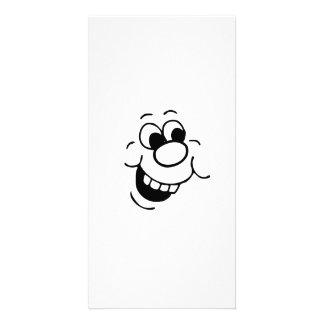 Lustiges Gesicht Fotogrußkarten