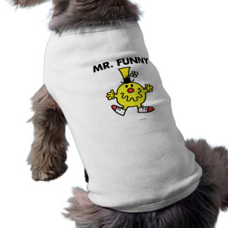 Lustiges Gesicht Herr-Funny | Ärmelfreies Hunde-Shirt