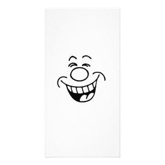 Lustiges Gesicht Photogrußkarten