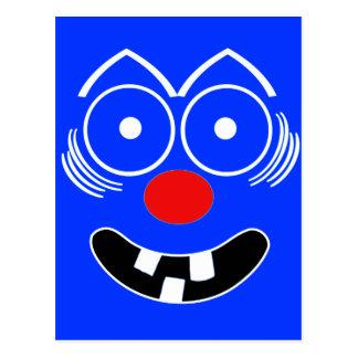 Lustiges Gesicht Postkarte
