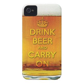 Lustiges Getränkbier und machen weiter iPhone 4 Cover