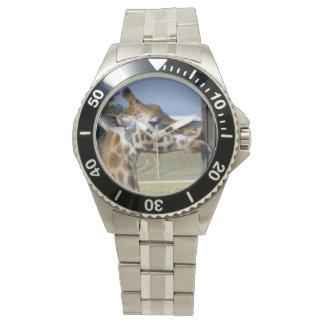Lustiges Giraffen-Fältchen herauf jene Lippen, Armbanduhr