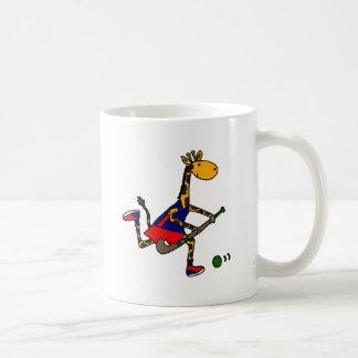 Lustiges Giraffen-Spielfeld-Hockey Tasse