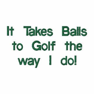 Lustiges Golf-Shirt, gestickt Besticktes Shirt