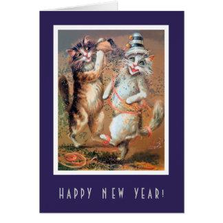 Lustiges guten Rutsch ins Neue Jahr-Partying Karte