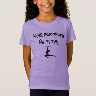 Lustiges Gymnastik-Mädchen-Shirt für Oberseite - T-Shirt