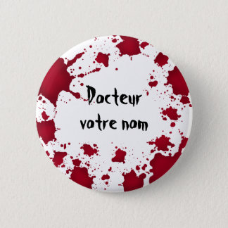 Lustiges Halloween Docteur Runder Button 5,7 Cm