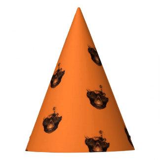 Lustiges Halloween - gebranntes Schädel-Muster Partyhütchen