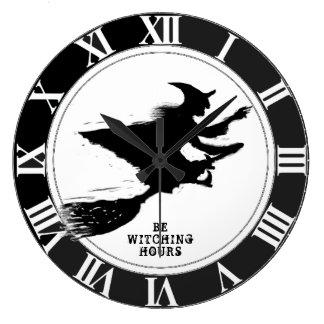Lustiges Halloween Große Wanduhr