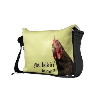 Lustiges Haltungs-Huhn Kuriertaschen