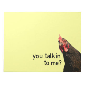 Lustiges Haltungs-Huhn Notizblock