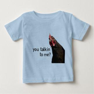 Lustiges Haltungs-Huhn - Sie talkin zu mir? Baby T-shirt