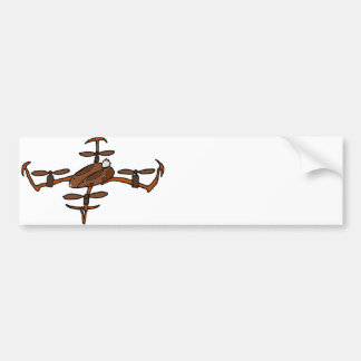 Lustiges Häschen-Drohne Autoaufkleber