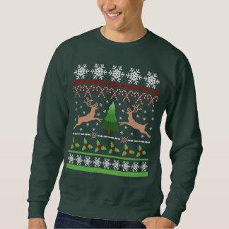 Lustiges hässliches Weihnachtsstrickjacke-Thema Sweatshirt