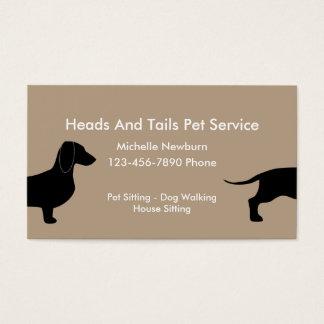 Lustiges Haustier-Modell Visitenkarte