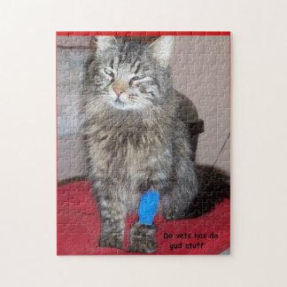 Lustiges heilkräftiges Katze meme oder Ihr Bild Puzzle