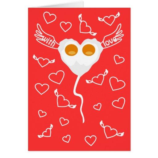 Lustiges Herz des Valentinstags mit Eier kundenspe Karten