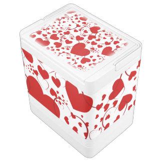 Lustiges Herz-Muster V + Ihre Hintergrundfarbe Kühlbox