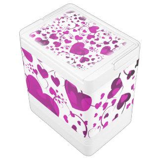 Lustiges Herz-Muster VI + Ihre Hintergrundfarbe Kühlbox