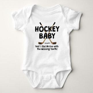 Lustiges Hockey-Baby-vermisster Zahn-Säugling Baby Strampler