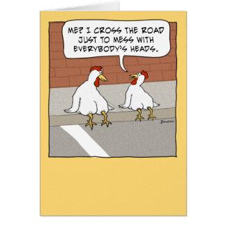 Lustiges Huhn, das Straßen-alles Gute zum Karte