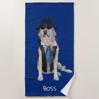 Lustiges Hunde-/Labrador-Badetuch Strandtuch