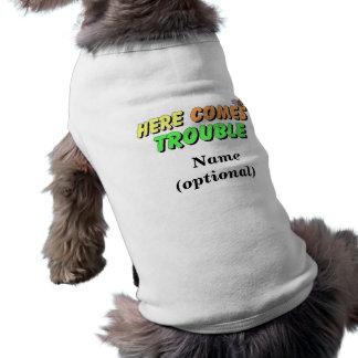 Lustiges HundeT - Shirt-Sprichwort Ärmelfreies Hunde-Shirt