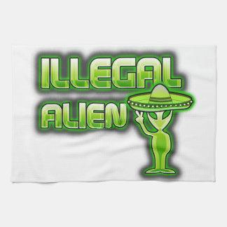 Lustiges illegales alien handtuch