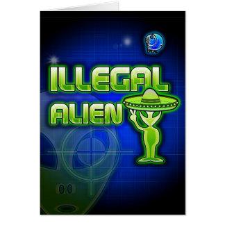 Lustiges illegales alien karte