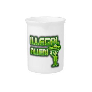 Lustiges illegales alien krug