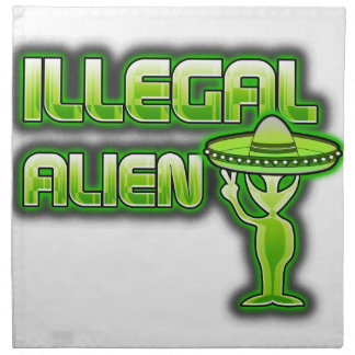 Lustiges illegales alien serviette
