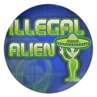 Lustiges illegales alien teller