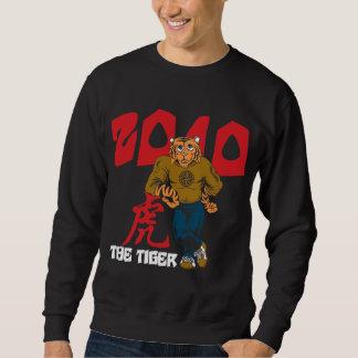 Lustiges Jahr des Schwarzen des Tiger-2010 Sweatshirt