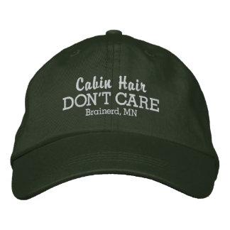 Lustiges Kabinen-Haar interessieren sich nicht Bestickte Kappe