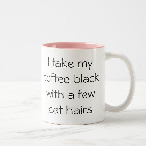 Lustiges Kaffeeschwarzes mit Katzenhaar Tasse