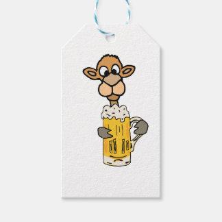 Lustiges Kamel-trinkender Bier-Entwurf Geschenkanhänger
