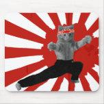 Lustiges Karate-Kätzchen Mauspad