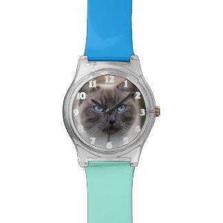 Lustiges Katzen-Foto-Uhr-Geschenk Armbanduhr