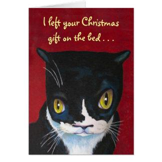 Lustiges Katzen-Weihnachten Karte