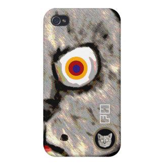 lustiges Katzengesicht iPhone 4 Schutzhülle
