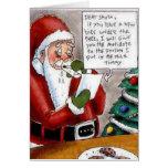 Lustiges Kind besticht Sankt-Weihnachtskarte Grußkarten