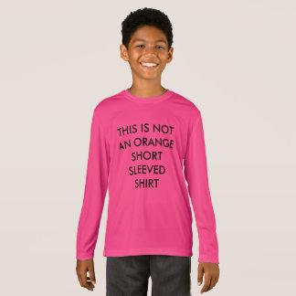 Lustiges Kinder-NICHT orange kurzes Sleeved Shirt
