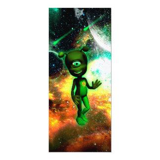 Lustiges kleines alien 10,2 x 23,5 cm einladungskarte