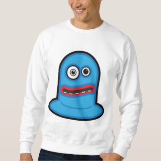 Lustiges kleines blaues Klecks-Monster Sweatshirt