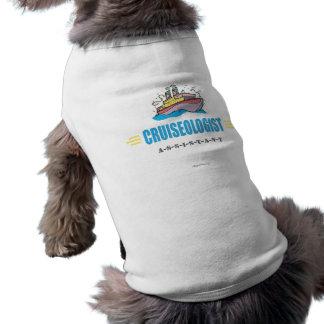 Lustiges Kreuzschiff Ärmelfreies Hunde-Shirt