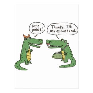 Lustiges Krokodil Postkarte